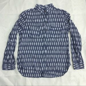 BDG blue/gray patterned button down shirt